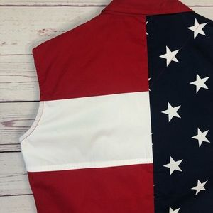 Natural Reflections Tops - Natural Reflections Red White Blue Sleeveless